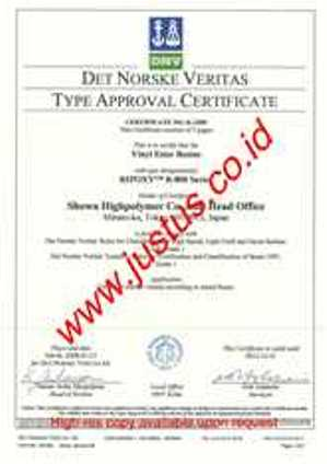 DNV Certificate Ripoxy